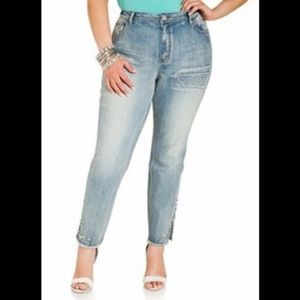Ashley Stewart high waisted skinny jeans